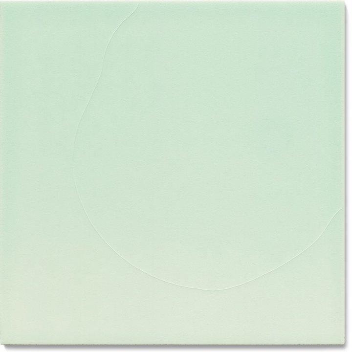 Plain glazed wall tile F 10.64, Pastell blassgrün