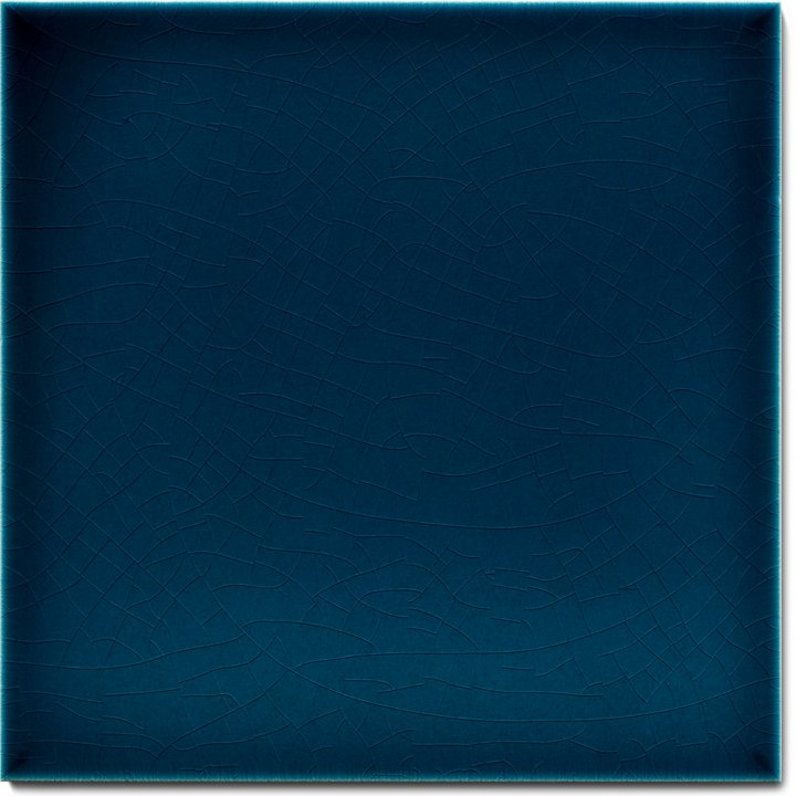Einfarbig glasierte Wandfliese F 10.667, Dunkelblau transparent