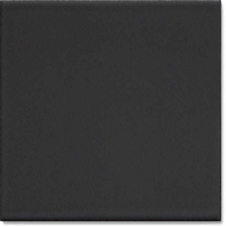 Plain glazed wall tile F 10.68, Schwarz matt