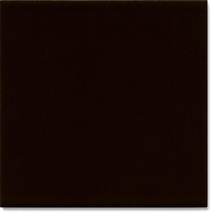 Einfarbig glasierte Wandfliese F 10.69, Schwarz rötlich