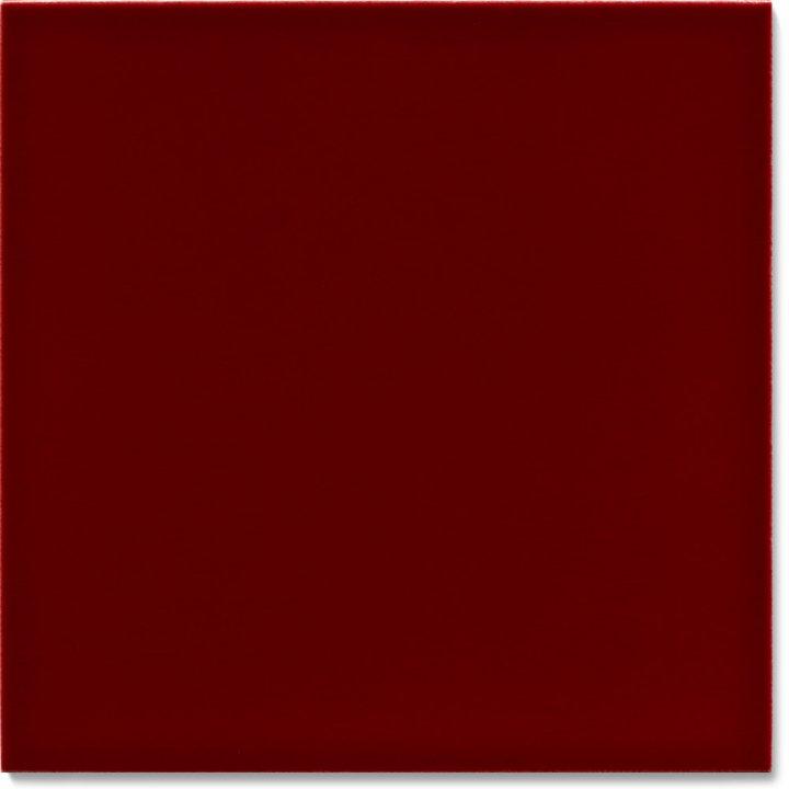 Einfarbig glasierte Wandfliese F 10.400, Krapplack dunkel