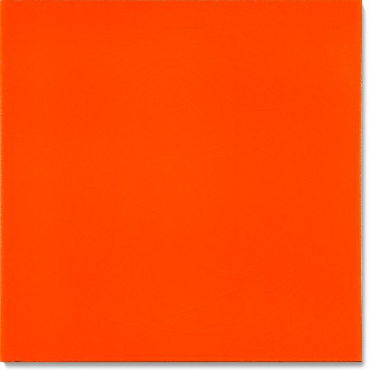 Einfarbig glasierte Wandfliese F 10.415, Orange