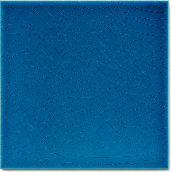 Einfarbig glasierte Wandfliese F 10.603, Kobaltblau hellblau