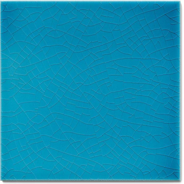 Einfarbig glasierte Wandfliese F 10.605, Blaugrün