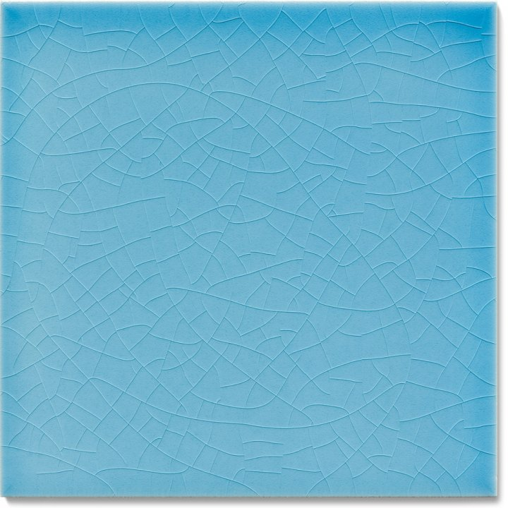 Plain glazed wall tile F 10.606, Himmelblau