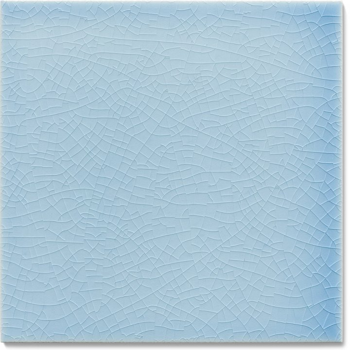 Plain glazed wall tile F 10.609, Winterblau
