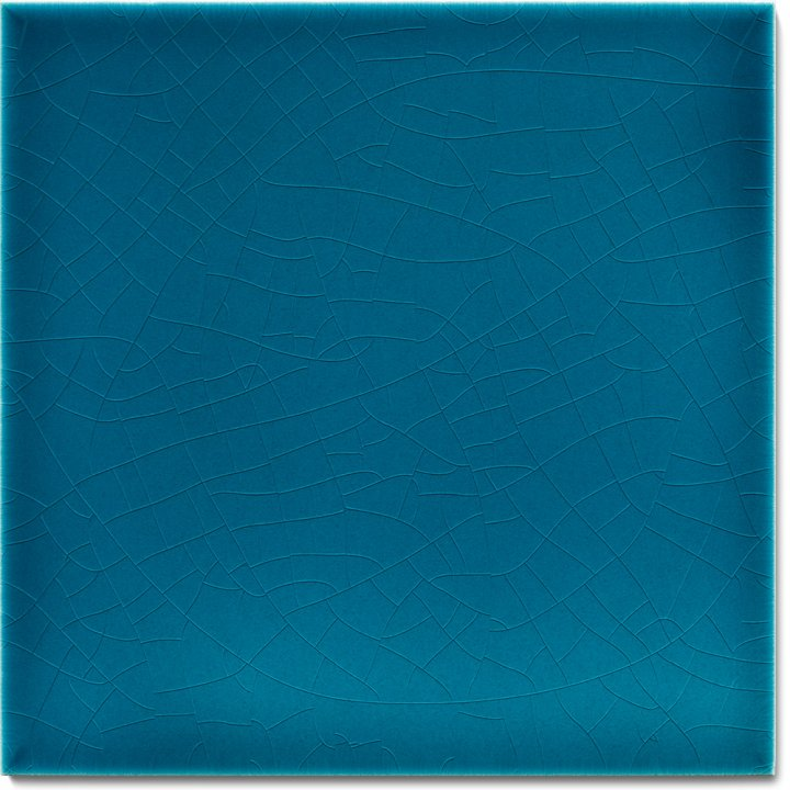 Plain glazed wall tile F 10.610, Blaugrün dunkel