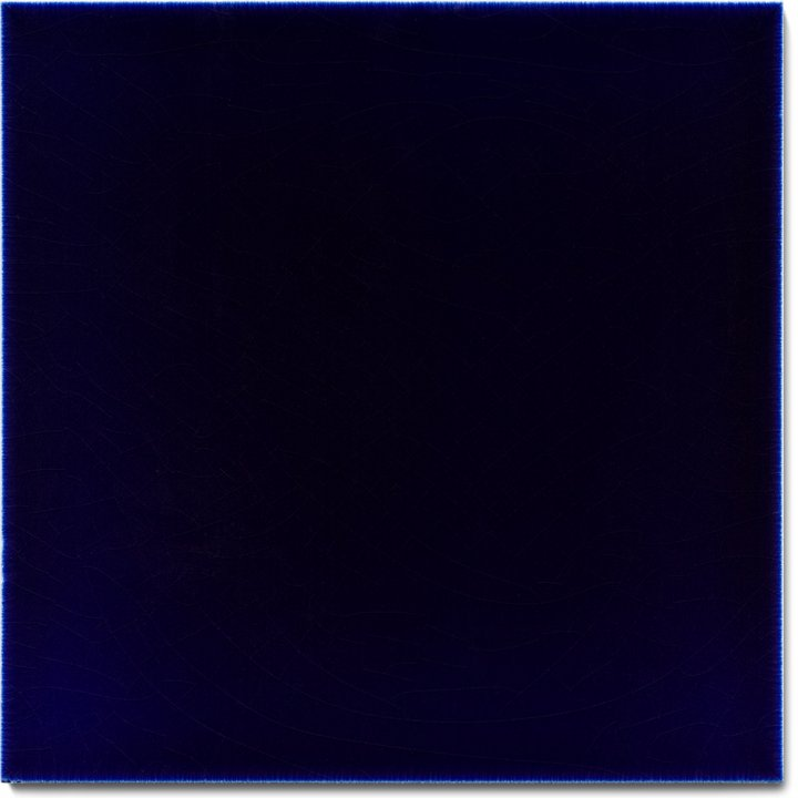 Plain glazed wall tile F 10.621, Kobaltblau Dunkel