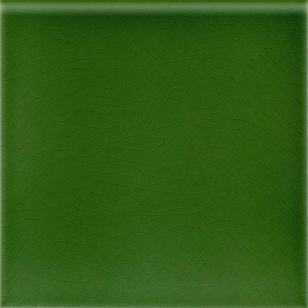 Plain glazed wall tile F 10.14 R, Laubgrün, 1 gerundete Kante