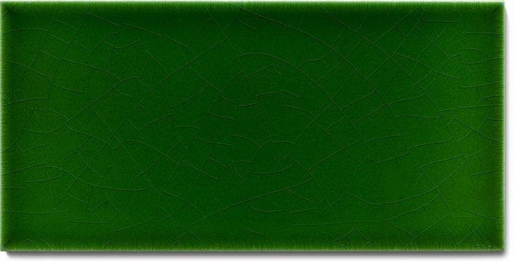 Einfarbig glasierte Wandfliese F 10.8 H, Dunkelgrün warm, Halbformat