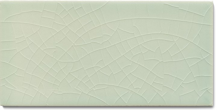 Plain glazed wall tile F 10.16 H, Hellgrau, half tile