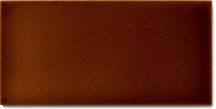 Plain glazed wall tile F 10.18 H, Rotbraun dunkel, half tile