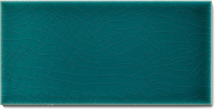 Plain glazed wall tile F 10.19 H, Cyangrün, half tile