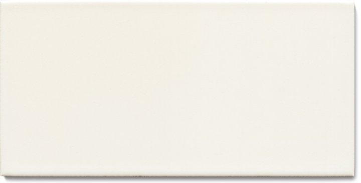 Einfarbig glasierte Wandfliese  F 10.26 H, Altweiß, Halbformat