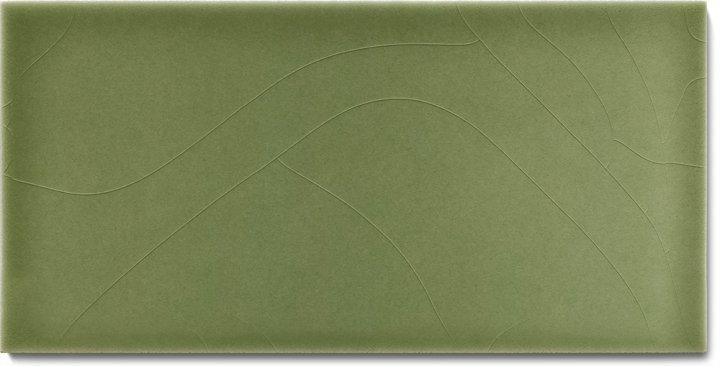 Einfarbig glasierte Wandfliese  F 10.33 H, Blassgrün, Halbformat