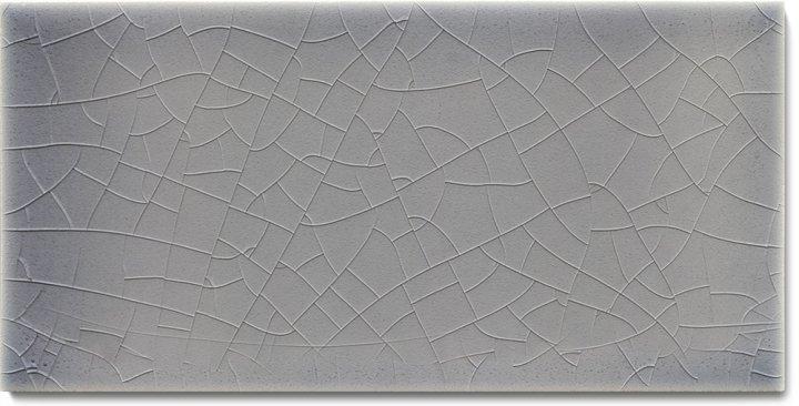 Plain glazed wall tile F 10.45 H, Mittelgrau bläulich, half tile