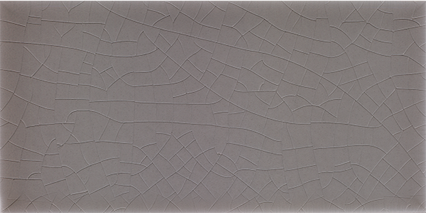 Plain glazed wall tile F 10.49 H, Mittelgrau grünlich, Halbformat