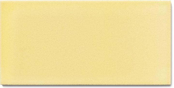 Einfarbig glasierte Wandfliese  F 10.61 H, Pastell gelb, Halbformat