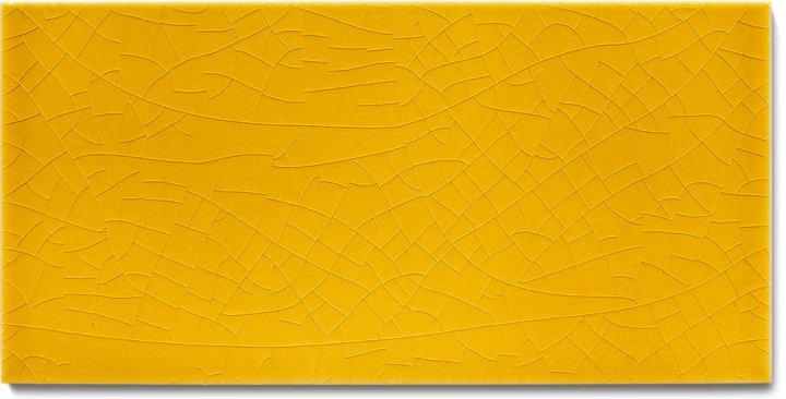 Carreau de mur lisses émaillés F 10.575 H, Biergelb, demi carreau
