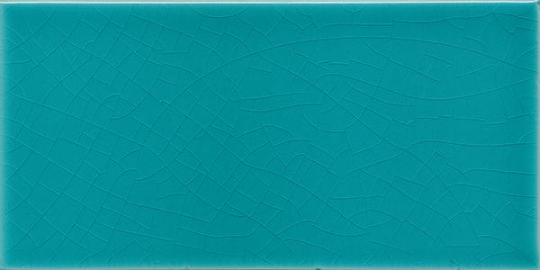 Plain glazed wall tile F 10.605 H, Blaugrün, Halbformat