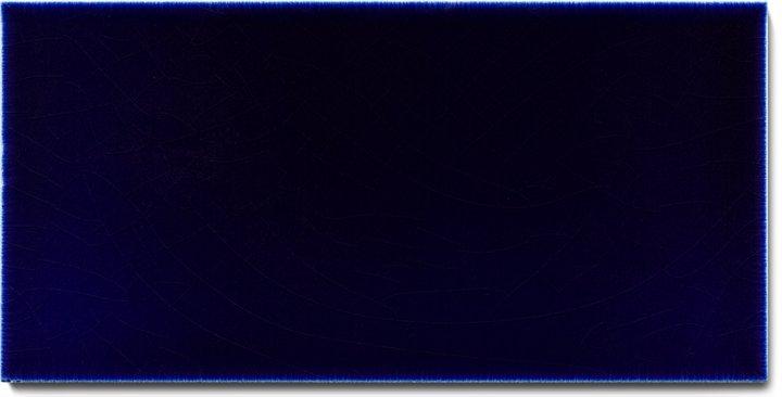 Carreau de mur lisses émaillés F 10.621 H, Kobaltblau Dunkel, demi carreau