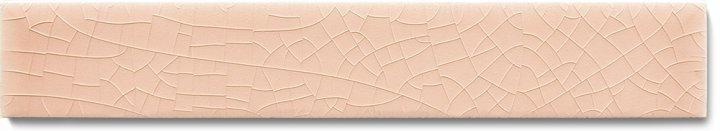 Einfarbig glasierte Wandfliese F 10.2 Ri, Pastell altrosa, Riemchen