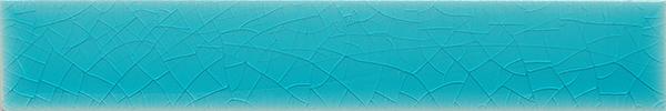 Plain glazed wall tile F 10.6 Ri, Türkis bläulich, Riemchen