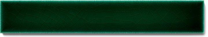 Einfarbig glasierte Wandfliese  F 10.7 Ri, Dunkelgrün kalt, Riemchen