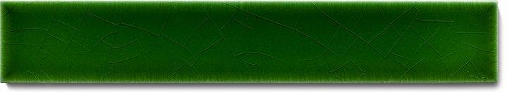 Carreau de mur lisses émaillés F 10.8 Ri, Dunkelgrün warm, baguette