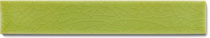 Plain glazed wall tile F 10.10 Ri, Lindgrün hell, listello