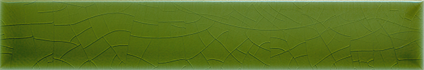 Plain glazed wall tile F 10.11 Ri, Hellgrün, Riemchen