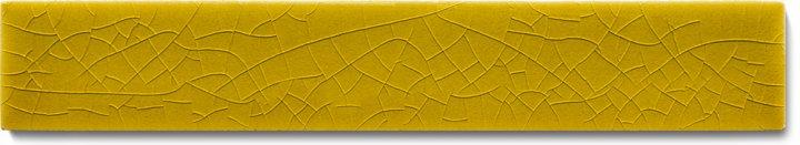 Einfarbig glasierte Wandfliese F 10.12 Ri, Dunkelgelb, Riemchen