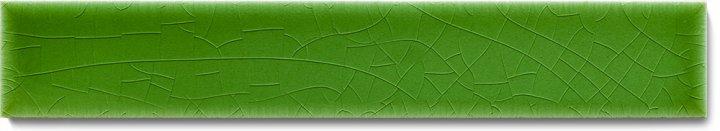 Einfarbig glasierte Wandfliese  F 10.14 Ri, Laubgrün, Riemchen