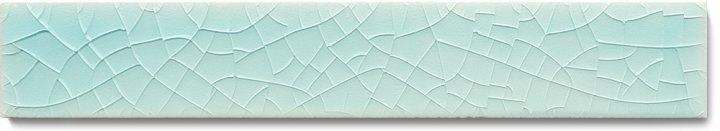 Plain glazed wall tile F 10.15 Ri, Türkis hell, listello