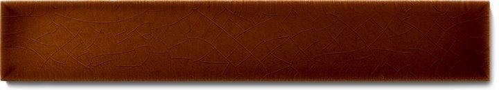 Plain glazed wall tile F 10.18 Ri, Rotbraun dunkel, listello