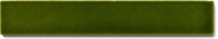 Einfarbig glasierte Wandfliese F 10.28 Ri, Grünflocke, Riemchen