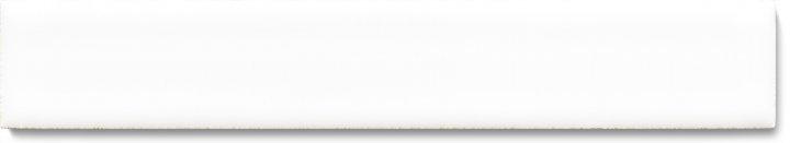 Plain glazed wall tile F 10.39 Ri, Neutralweiß, listello