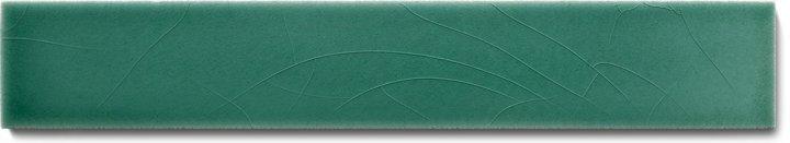 Einfarbig glasierte Wandfliese  F 10.43 Ri, Schilfgrün, Riemchen
