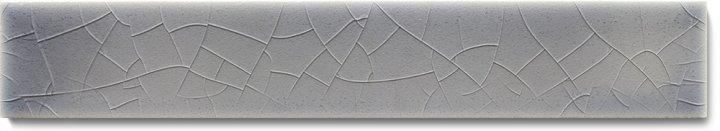 Plain glazed wall tile F 10.45 Ri, Mittelgrau bläulich, listello