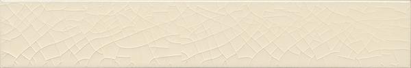 Plain glazed wall tile F 10.46 Ri, Cremeweiss transparent, Riemchen