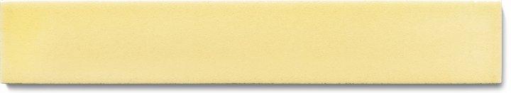 Carreau de mur lisses émaillés F 10.61 Ri, Pastell gelb, baguette