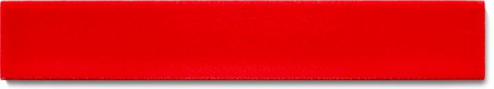 Einfarbig glasierte Wandfliese  F 10.410 Ri, Zinnoberrot, Riemchen