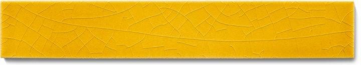 Plain glazed wall tile F 10.575 Ri, Biergelb, listello