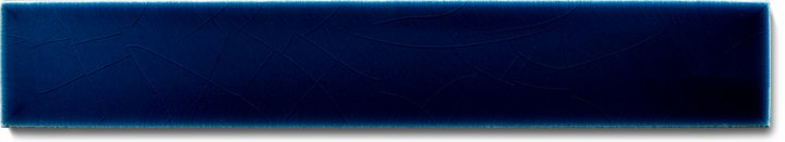 Carreau de mur lisses émaillés F 10.601 Ri, Dunkelblau, baguette