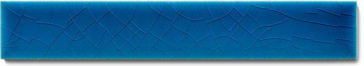 Plain glazed wall tile F 10.603 Ri, Kobaltblau hellblau, listello