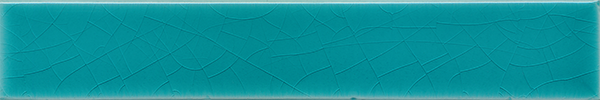 Plain glazed wall tile F 10.605 Ri, Blaugrün, Riemchen