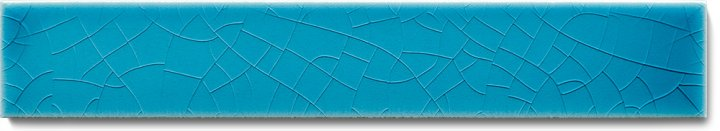 Plain glazed wall tile F 10.605 Ri, Blaugrün, listello