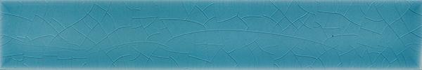 Plain glazed wall tile F 10.606 Ri, Himmelblau, Riemchen