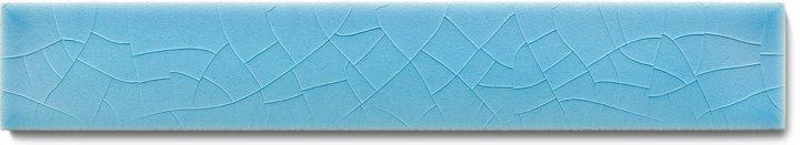 Carreau de mur lisses émaillés F 10.606 Ri, Himmelblau, baguette