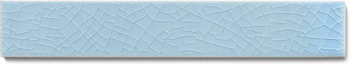 Carreau de mur lisses émaillés F 10.609 Ri, Winterblau, baguette